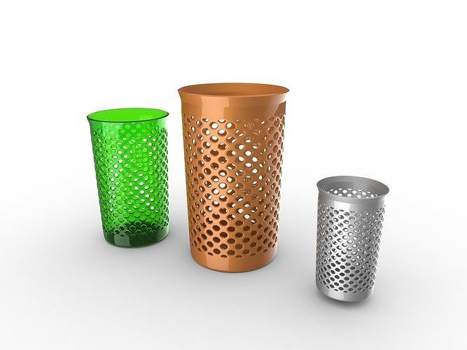 fancy trash can 3d model obj mtl fbx ma mb 1