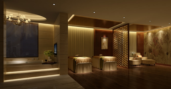 Photo real spa 3d cgtrader for 3d decoration models