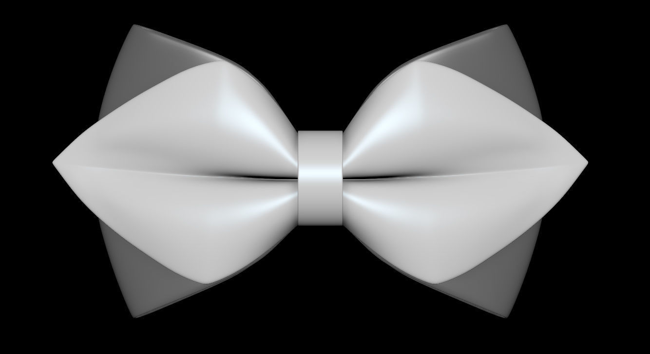 picture about Bow Tie Printable named Bow Tie 02- 3D Print Style