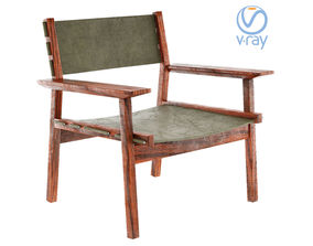 3D asset djuro lounge chair Skargaarden