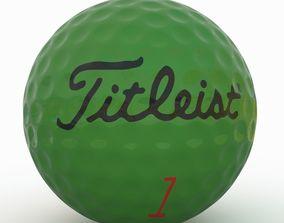 3D asset Gilf Ball Green