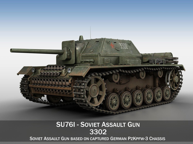 SU-76i - Soviet Assault gun - 3302