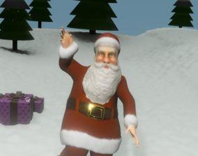 rigged Santa Claus Rigged 3d Model