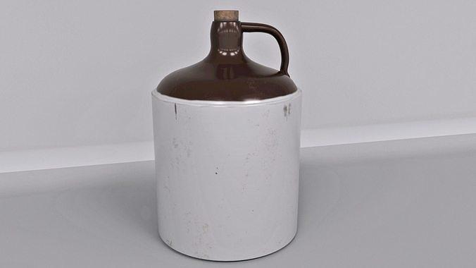 antique stoneware jar 3d model obj mtl fbx ma mb mdl gltf glb 1