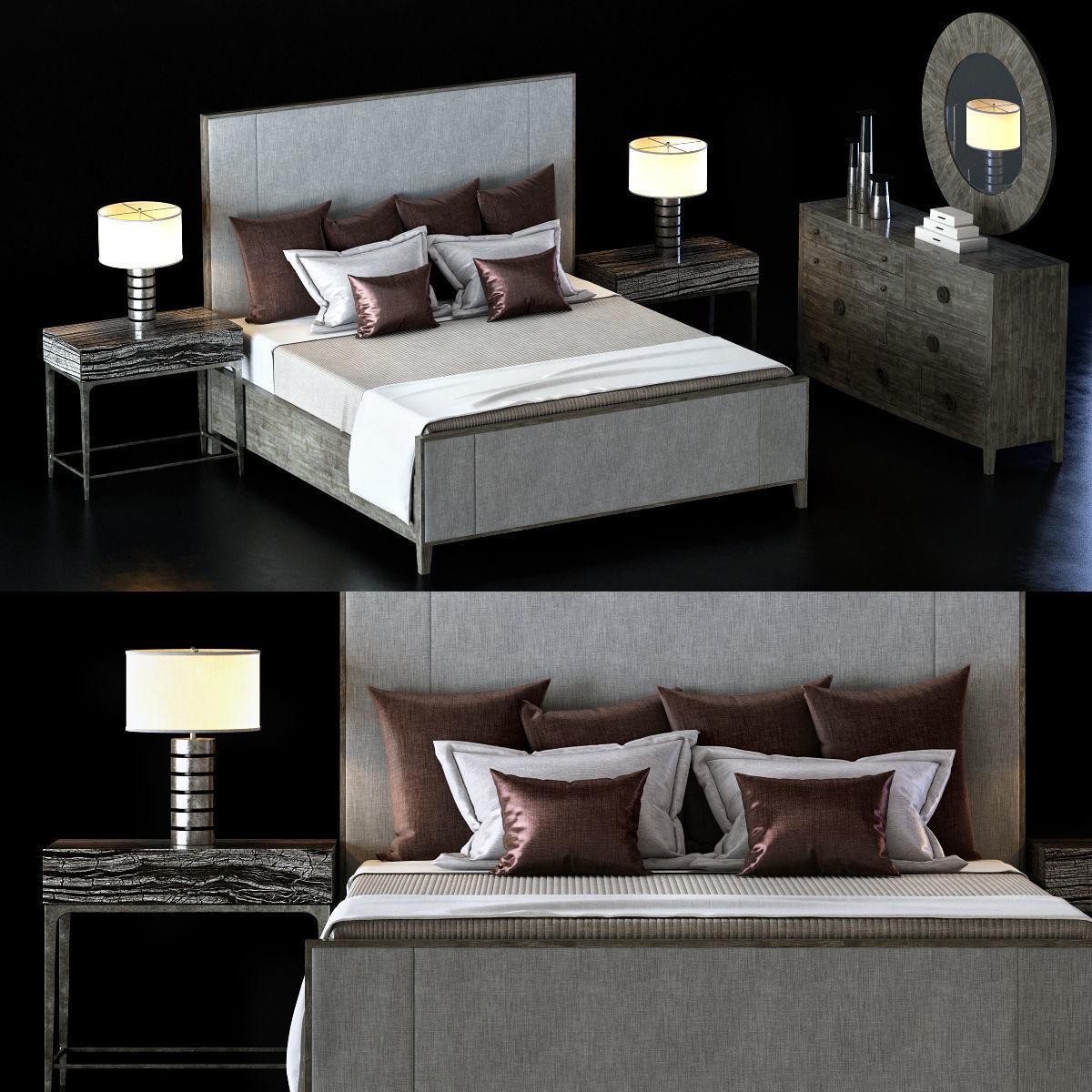 Super Bernhardt Linea Bedroom Set 1 3D Model Interior Design Ideas Clesiryabchikinfo