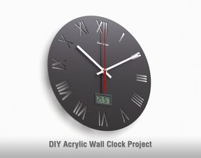 DIY Acrylic Wall Clock Project - V1 3D model numeral