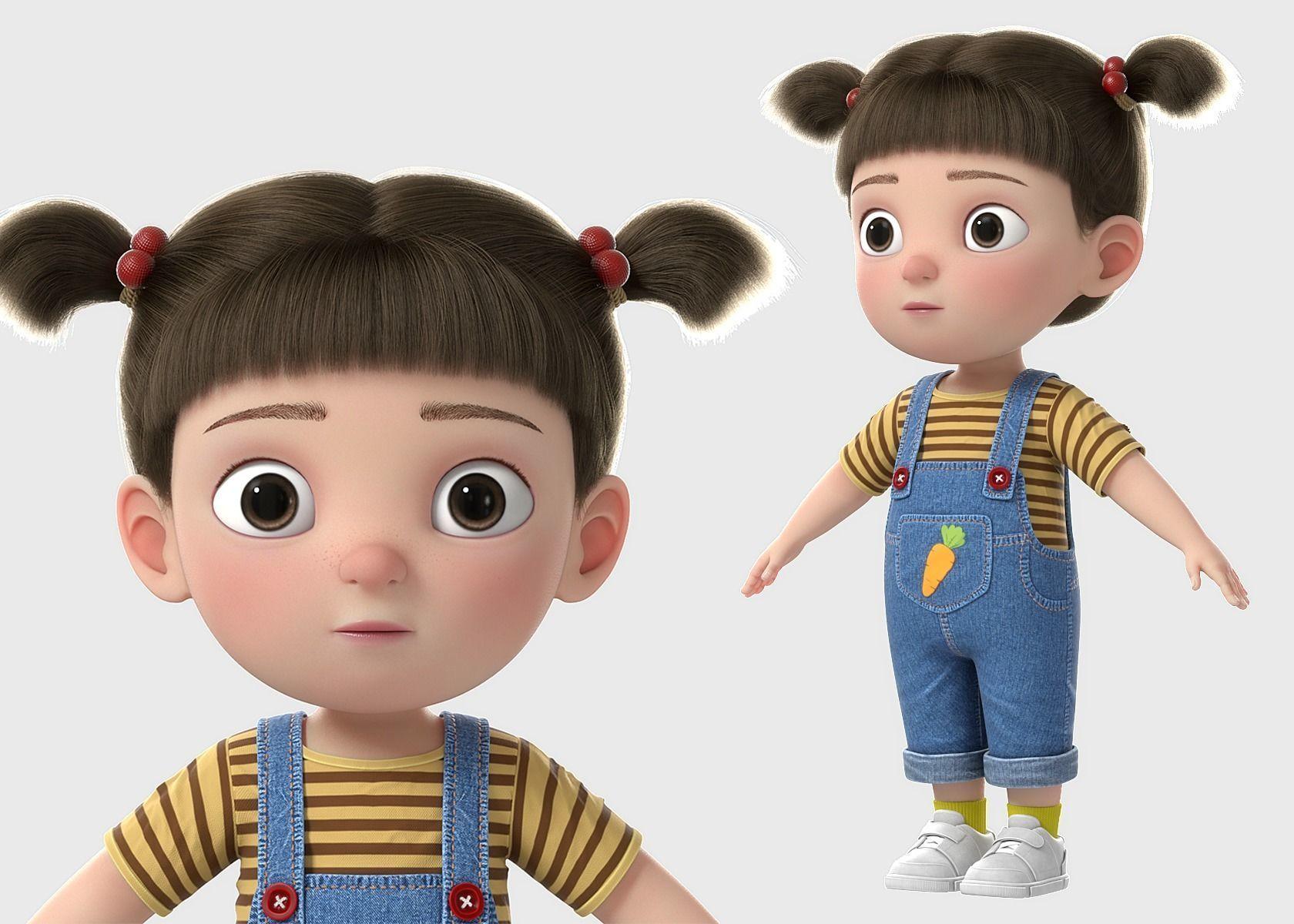 Cartoon Girl NoRig