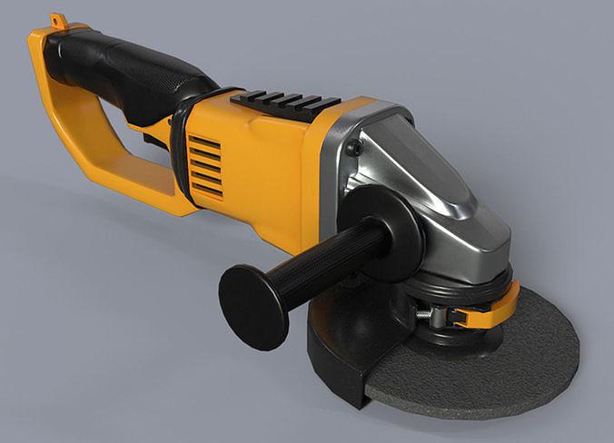 angle grinder no brand 3d model obj mtl 3ds fbx blend dae 1