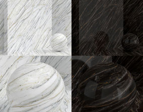 3D model Materials seamless - Marble plaster wall covering