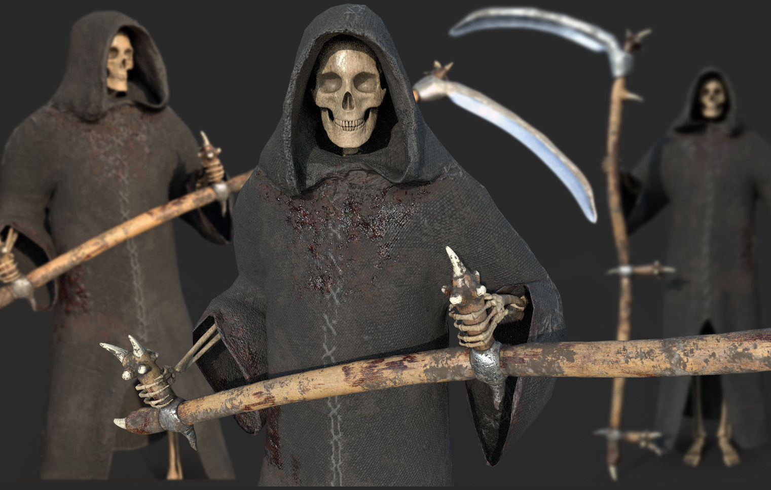Grim Reaper  Rigged with Scythe