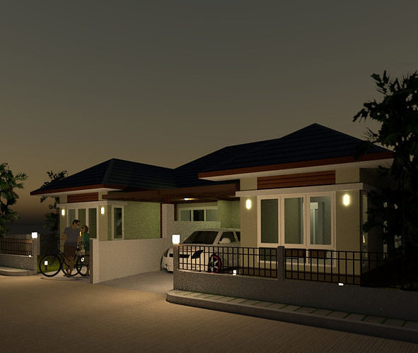 duplex house-dtm 3d model skp 1