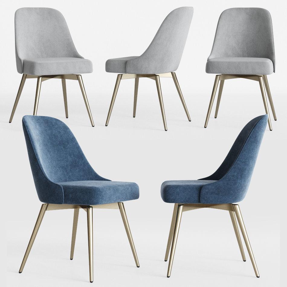huge discount c907c 2417d Mid-Century Swivel Office Chair Westelm | 3D model