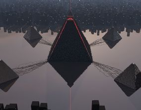 Pyramid alien 3D model
