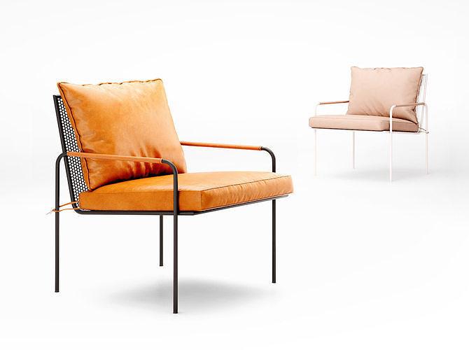 barnaby lane fitzroy armchair 3d model max obj mtl tga 1