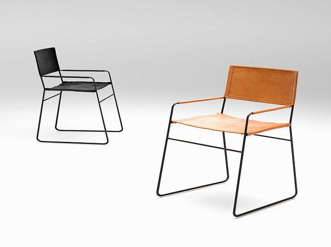 barnaby lane oxford lounge armchair  3d model max obj mtl 1