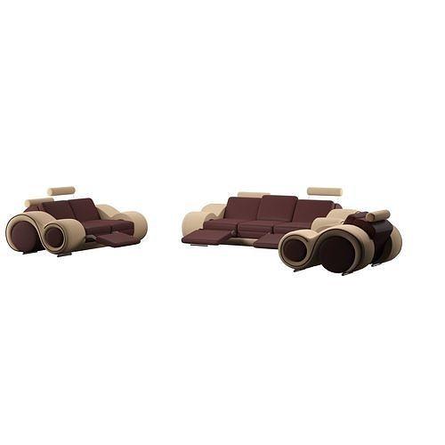 behr 3 piece leather living room set -sofa 3d model low-poly max obj mtl 3ds fbx dwg 1