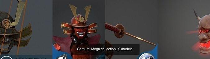 samurai mega collection 3d model obj mtl 3ds fbx blend dae X 1