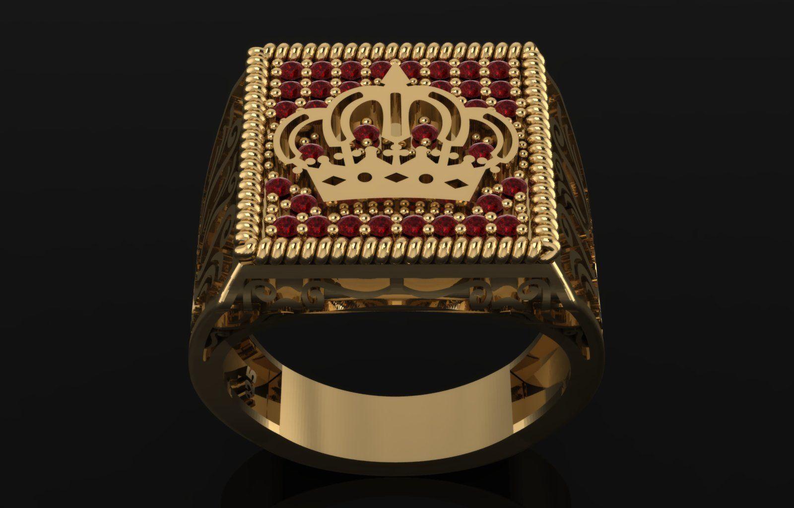men ring royal symbol