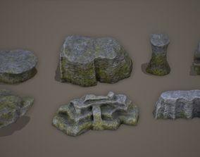 Cliff Rock Set PBR 4K 3D asset