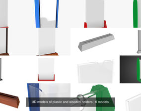 3D models of plastic and wooden holders
