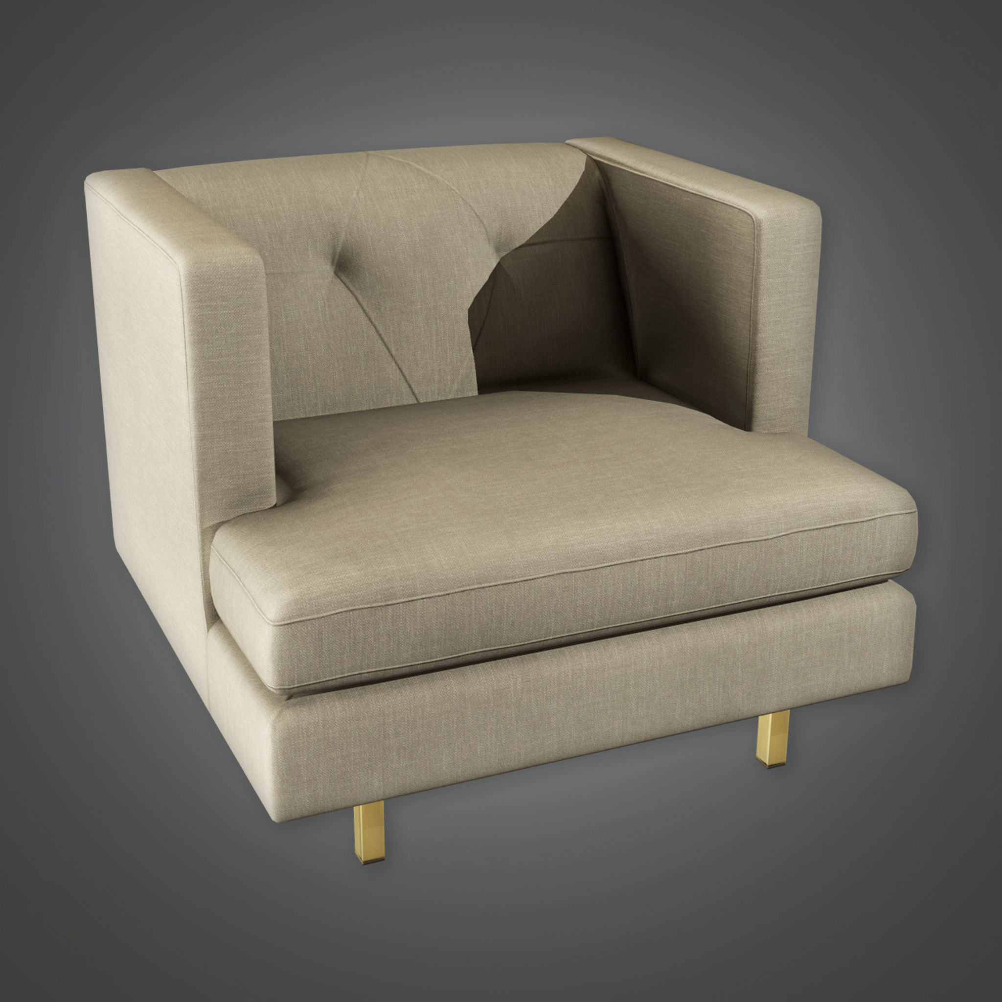 ARV1 - Accent Chair 01a - Arch Viz - Game Ready