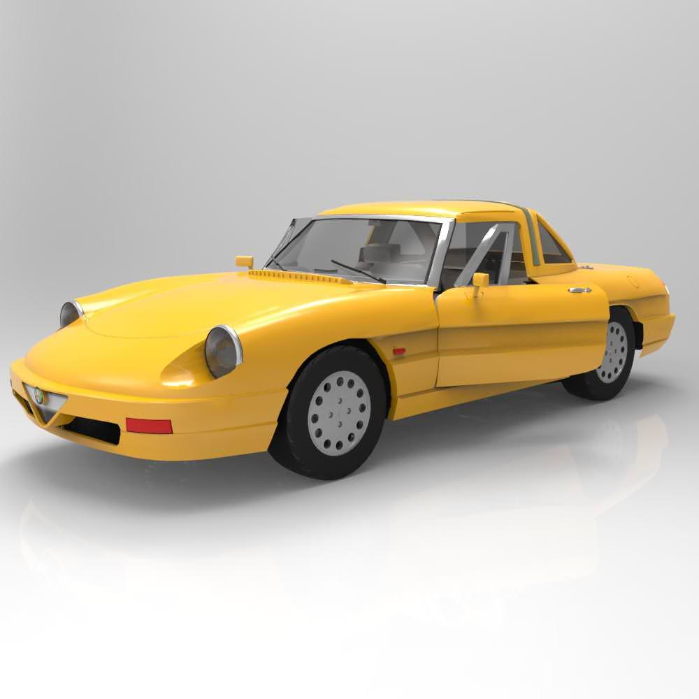Alfa Romeo Spider 3D Model MAX