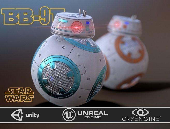 bb-9 e rebels two skins 3d model max obj mtl fbx 1