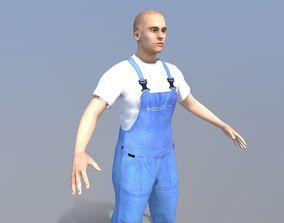 Worker Man 3D asset