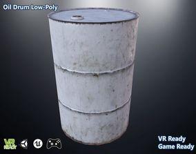 3D asset Oil Drum Low Poly