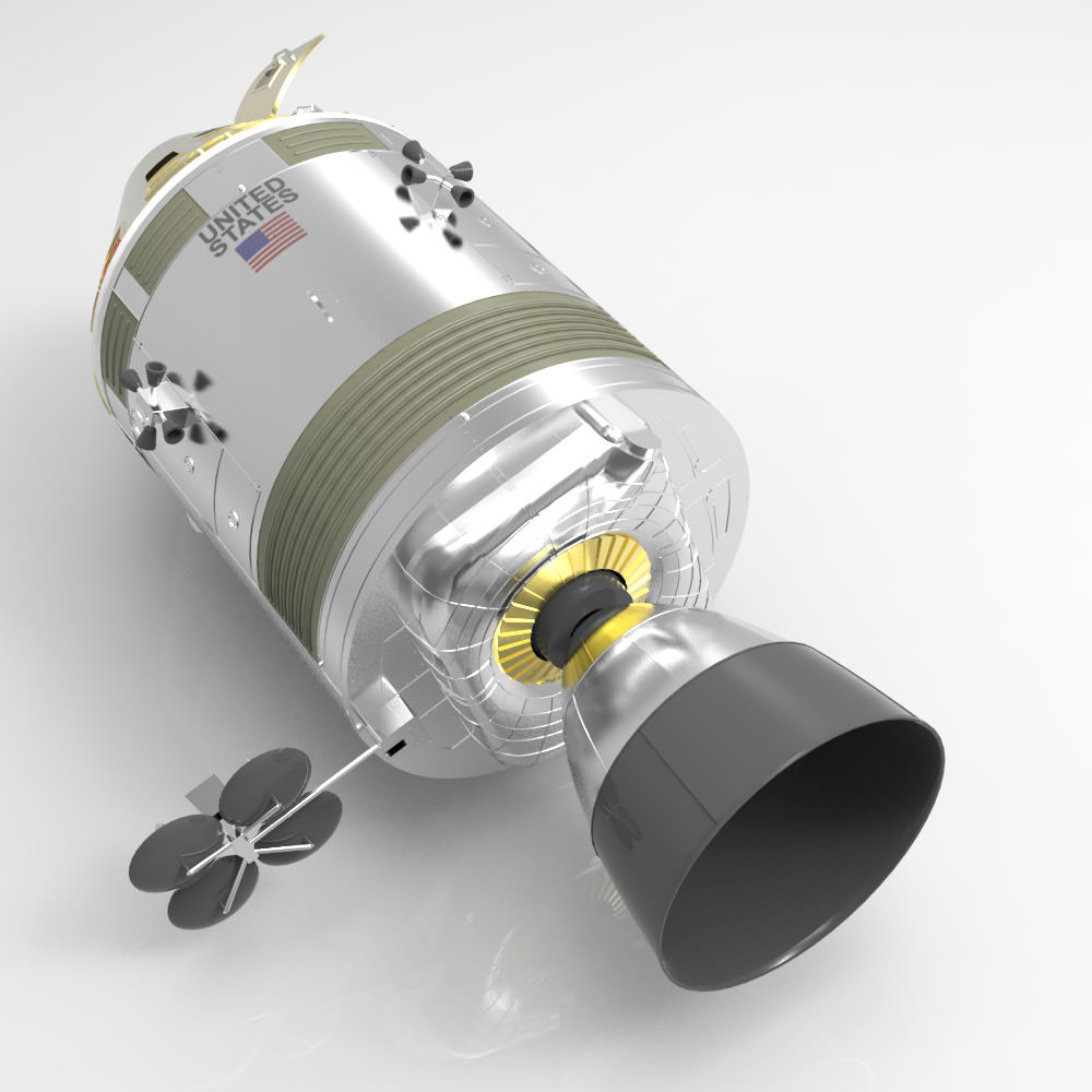 parts of the apollo spacecraft - photo #29