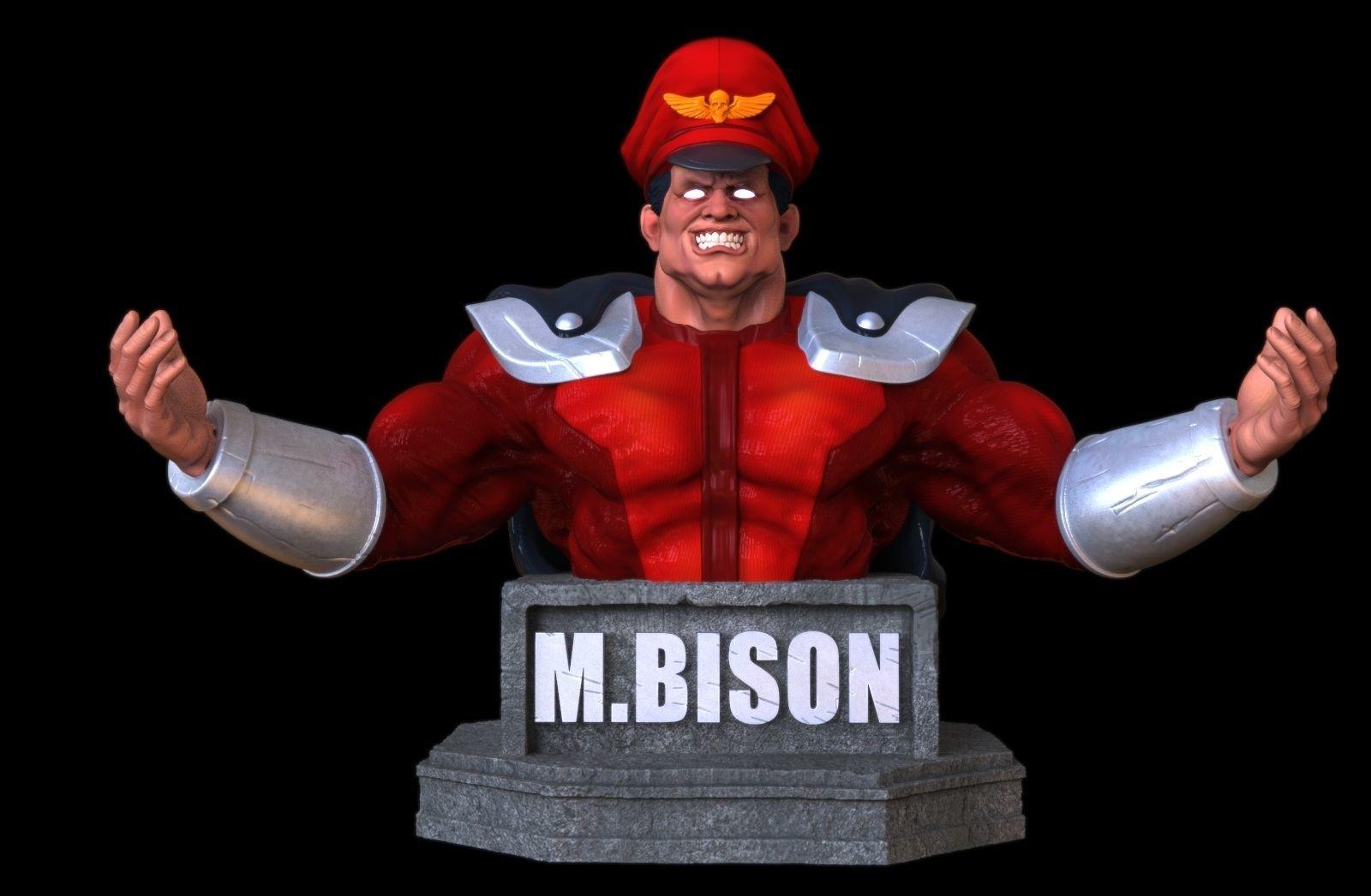 M Bison bust