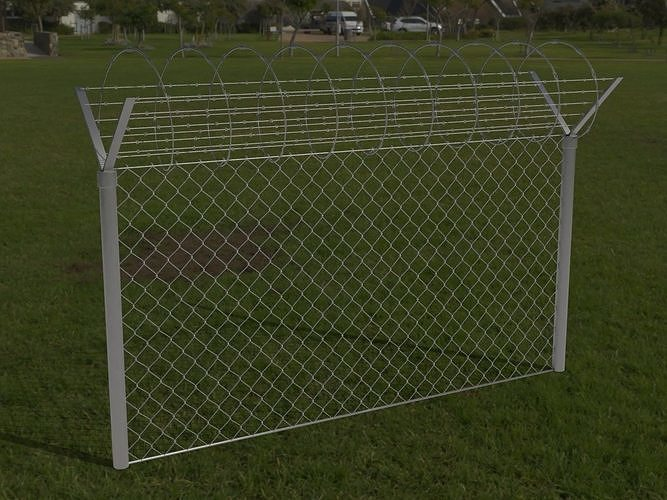 barbed wire fence 3d model obj mtl 3ds fbx stl blend dae 1