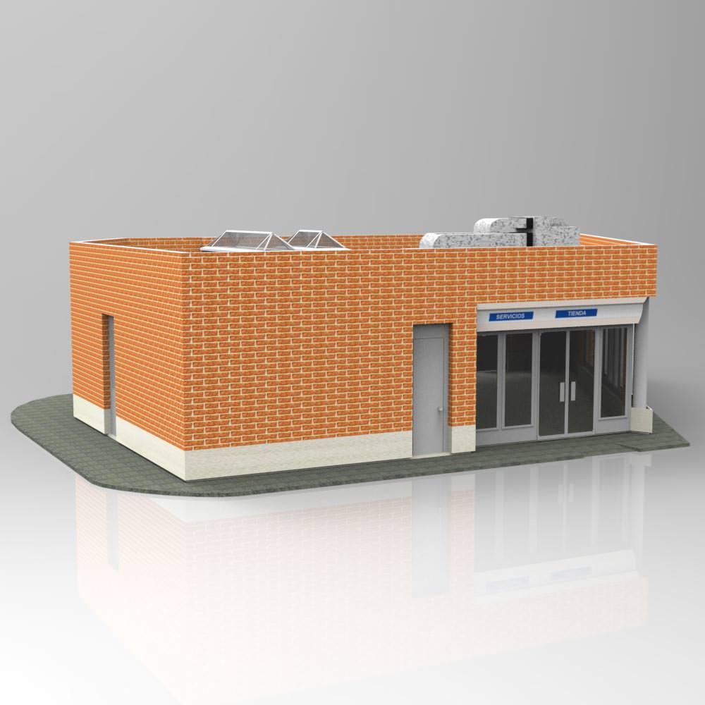 Auxiliar building 3d model max pdf for 3d max building