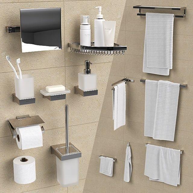 Bathroom Accessories.Bathroom Accessories Grohe Selection Cube 3d Model