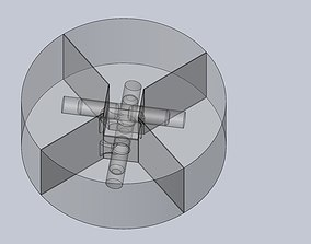 Centrifugal Cross Riddle Puzzle 3D print model