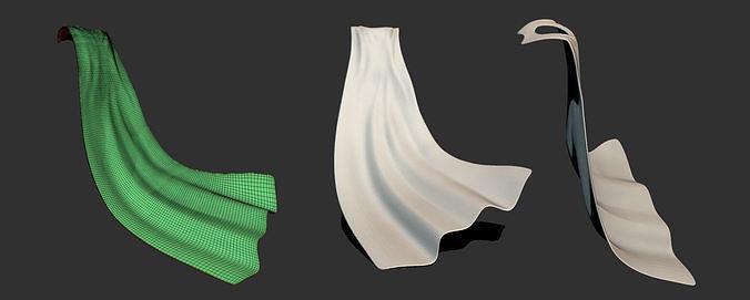 base mantello base coat 3d model obj mtl ztl 1