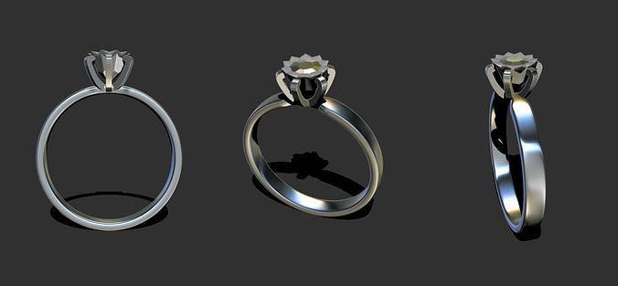 simple ring anello semplice 3d model obj mtl ztl 1