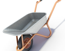 wheelbarrow 3d model max obj 3ds lwo lw lws