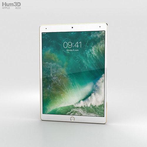 apple ipad pro 10-5-inch 2017 cellular gold 3d model max obj mtl 3ds fbx c4d lwo lw lws 1