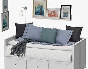 3D model Ikea Hemnes Bed