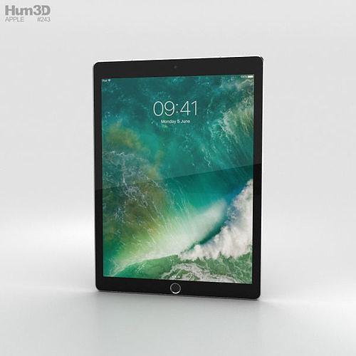 apple ipad pro 12-9-inch 2017 cellular space gray 3d model max obj mtl 3ds fbx c4d lwo lw lws 1