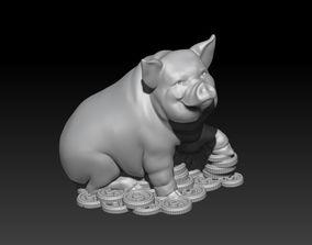 Pig brings wealth 2019 3D print model