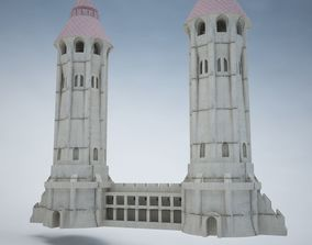 3D asset Gothic Tower