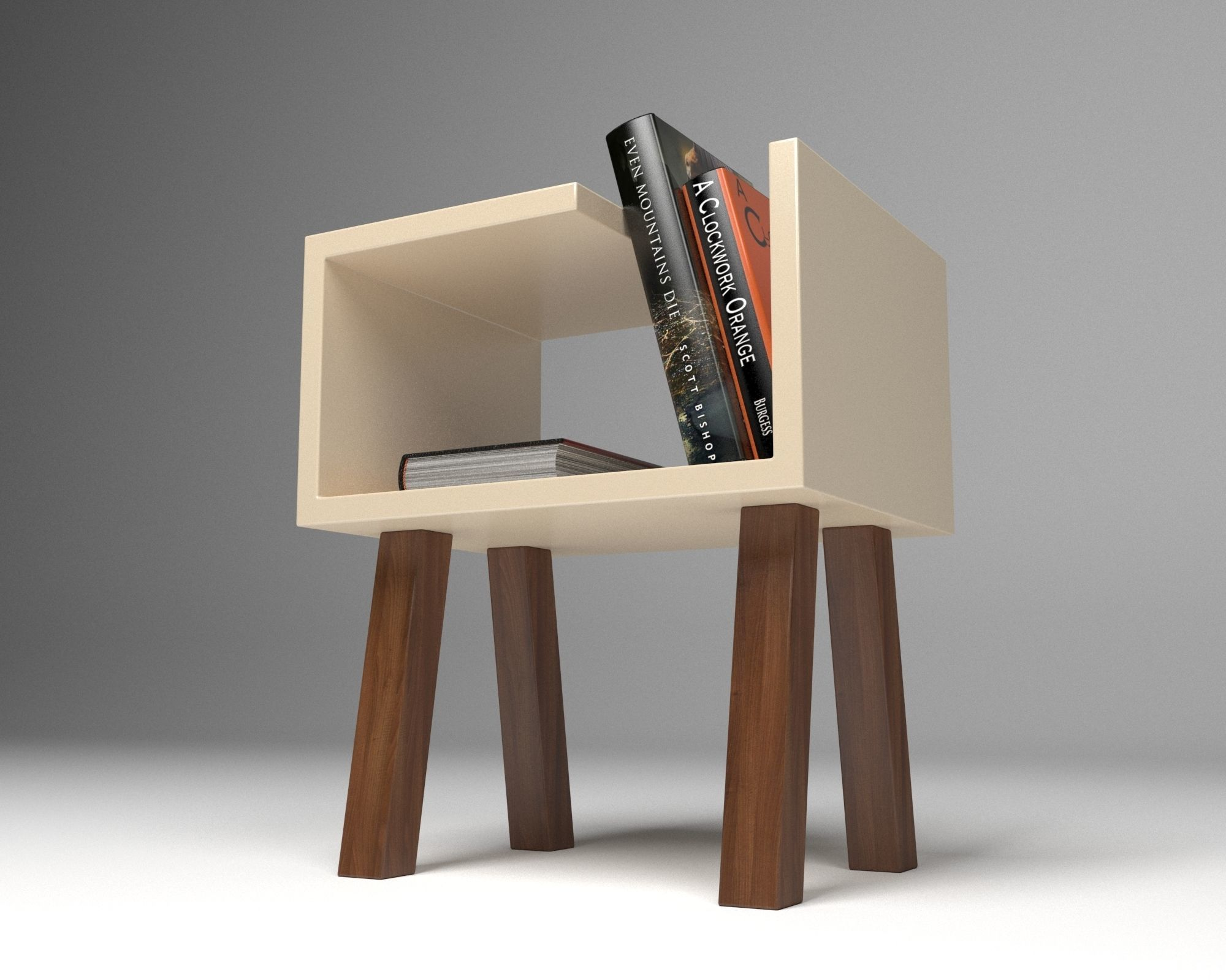 Minimal Coffee Table with Books