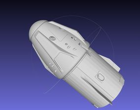 Space-X Dragon 2 Spacecraft Simple Printable Model
