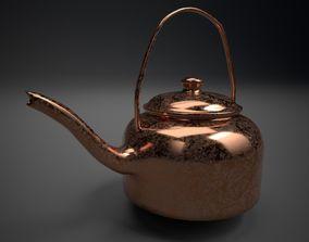 3D High Poly Copper Tea Kettle