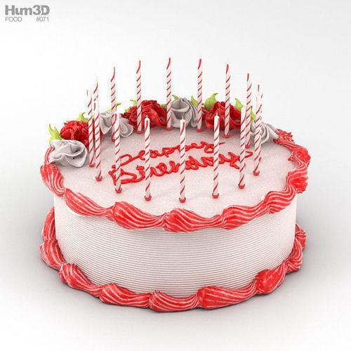 birthday cake 3d model max obj mtl 3ds fbx c4d lwo lw lws 1