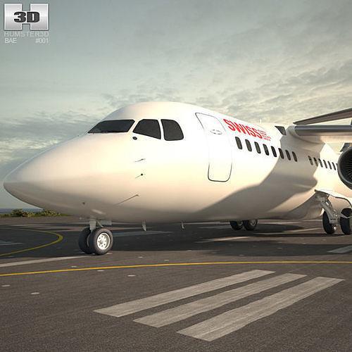 british aerospace 146 3d model max obj mtl 3ds fbx c4d lwo lw lws 1