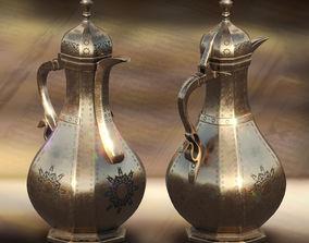 National turkmen kettle 3D asset