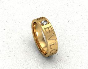3D print model ring Bulgari
